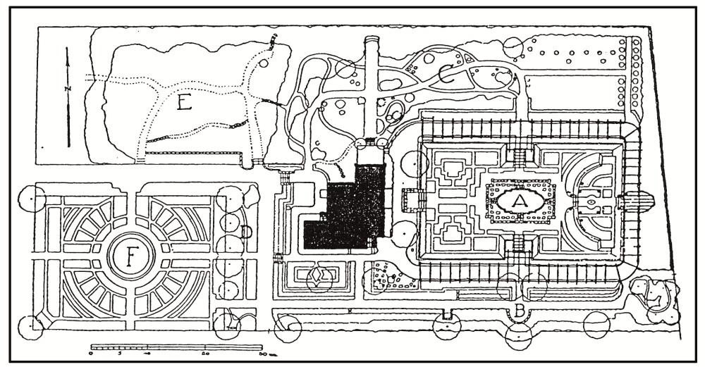 bornim_Historischer Gartenplan c. 1920